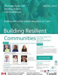 Building Resilient communities @ CIGI Auditorium | Waterloo | Ontario | Canada