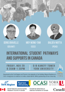 International Student Pathways and Supports in Canada @ York University | Toronto | Ontario | Canada