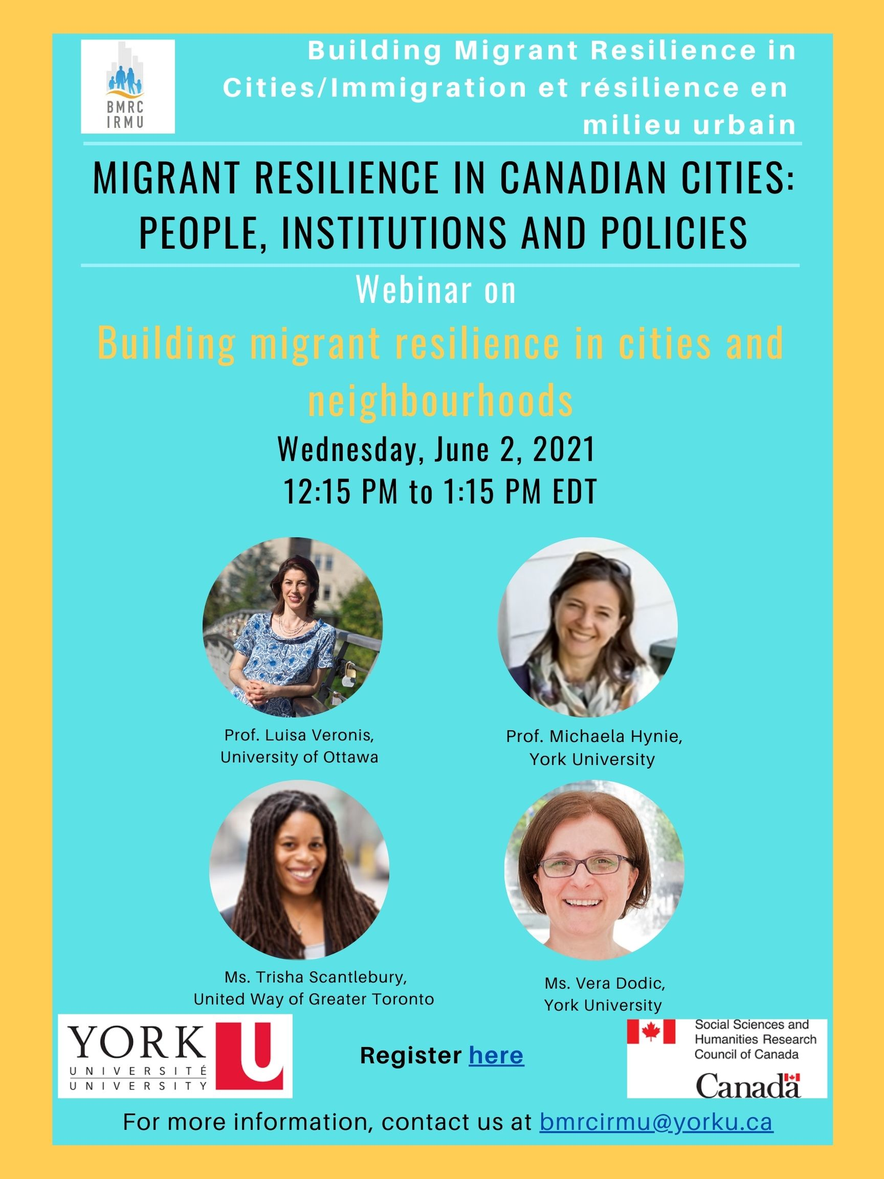 Migrant Resilience in Canadian Cities: people, institutions, and policies