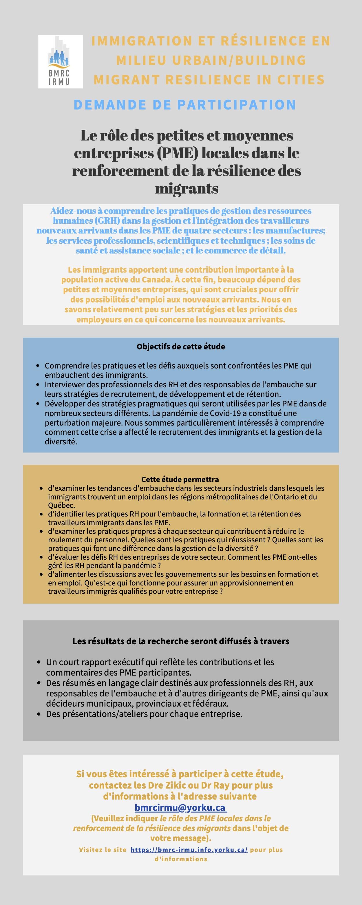 Le rôle des petites et moyennes entreprises (PME) locales dans le renforcement de la résilience des migrants